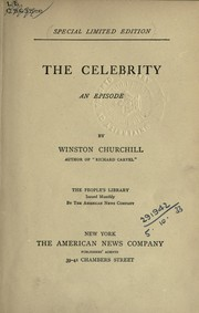 Cover of: The celebrity, an episode