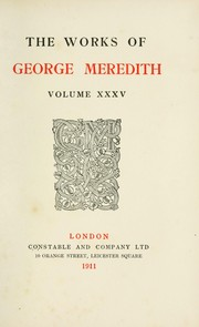 Cover of: Celt and Saxon (unfinished) | George Meredith