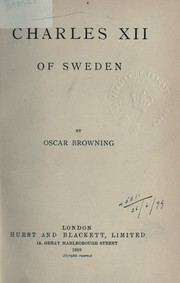 Cover of: Charles XII of Sweden