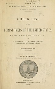 Cover of: Check list of the forest trees of the United States