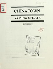 Cover of: Chinatown zoning update