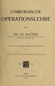 Cover of: Chirurgische Operationslehre