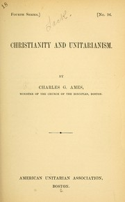 Cover of: Christianity and Unitarianism