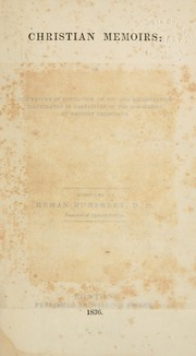 Cover of: Christian memoirs, or, The Nature of conviction of sin and regeneration