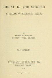 Cover of: Christ in the Church | Robert Hugh Benson