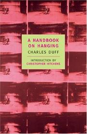 Cover of: A handbook on hanging