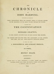 Cover of: The chronicle of Iohn Hardyng