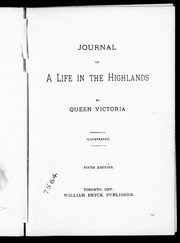 Cover of: Journal of a life in the Highlands