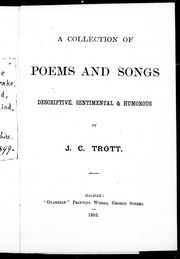 Cover of: A collection of poems and songs | J. C. Trott