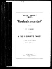 Cover of: Whence came the American Indians?