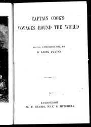 Cover of: Captain Cook's voyages round the world