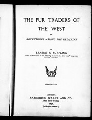 Cover of: The fur traders of the west, or, Adventures among the redskins