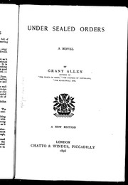 Cover of: Under sealed orders: a novel