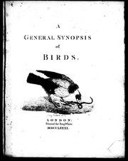 Cover of: A general synopsis of birds