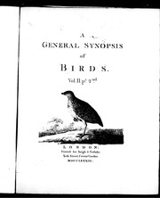 Cover of: A general synopsis of birds | Latham, John