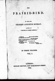 The prairie-bird by Murray, Charles Augustus Sir