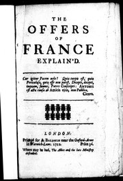 Cover of: The Offers of France explain