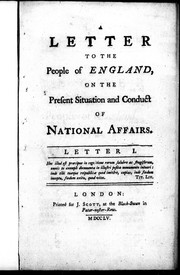 Cover of: A letter to the people of England