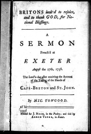Cover of: A sermon preached at Exeter, August the 27th, 1758