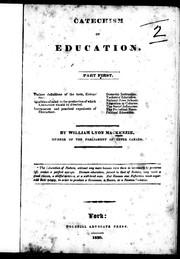 Cover of: Catechism of education