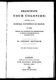 Cover of: Emancipate your colonies!: an unpublished argument