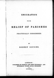Emigration for the relief of parishes practically considered