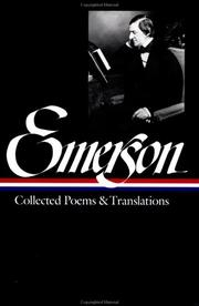Cover of: Collected poems and translations | Ralph Waldo Emerson