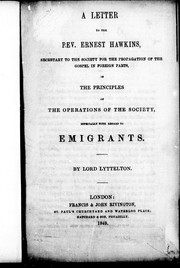 Cover of: A letter to the Rev. Ernest Hawkins |