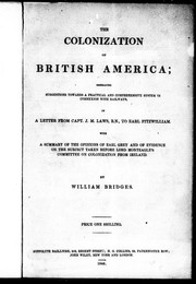 Cover of: The colonization of British America