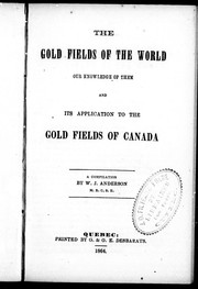 Cover of: The Gold fields of the world |