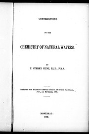 Cover of: Contributions to the chemistry of natural waters |