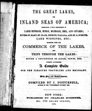 Cover of: The Great Lakes, or, Inland seas of America |