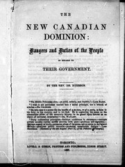 The new Canadian Dominion by Egerton Ryerson