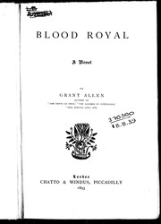 Cover of: Blood royal: a novel
