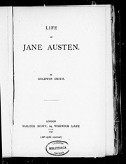 Cover of: Life of Jane Austen