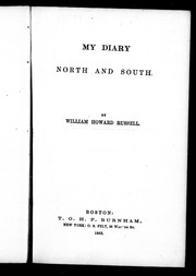 Cover of: My diary north and south