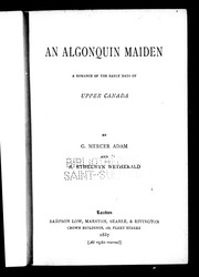 Cover of: An Algonquin maiden