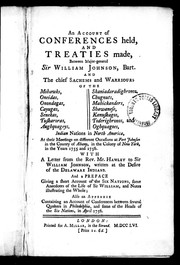 Cover of: An Account of conferences held, and treaties made |