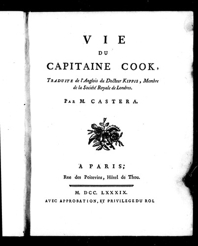 Vie du capitaine Cook by Andrew Kippis