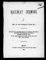 Cover of: Railway sermons