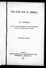 Cover of: The civil war in America