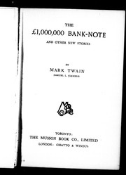 Cover of: The £1,000,000 bank-note: and other new stories