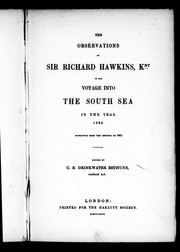 Cover of: The observations of Sir Richard Hawkins, Knt, in his voyage into the south sea