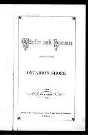 Cover of: Winter and summer on Ontario's shore