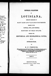 Cover of: Historical collections of Louisiana