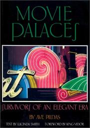 Cover of: Movie Palaces (Architecture and Film, 1) | Ave Pildas, Lucinda Smith