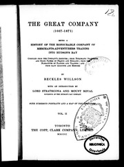 Cover of: The great company (1667-1871) | Willson, Beckles