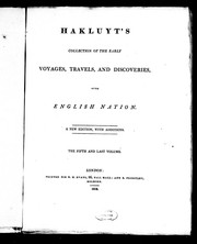 Cover of: Hakluyt's collection of the early voyages, travels, and discoveries of the English nation