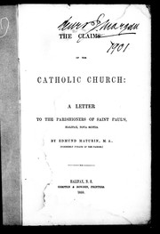 Cover of: The claims of the Catholic Church | Edmund Maturin