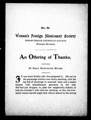 Cover of: An offering of thanks